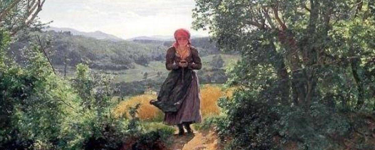 Será mesmo que esta mulher usa um celular em uma pintura feita há 157 anos?