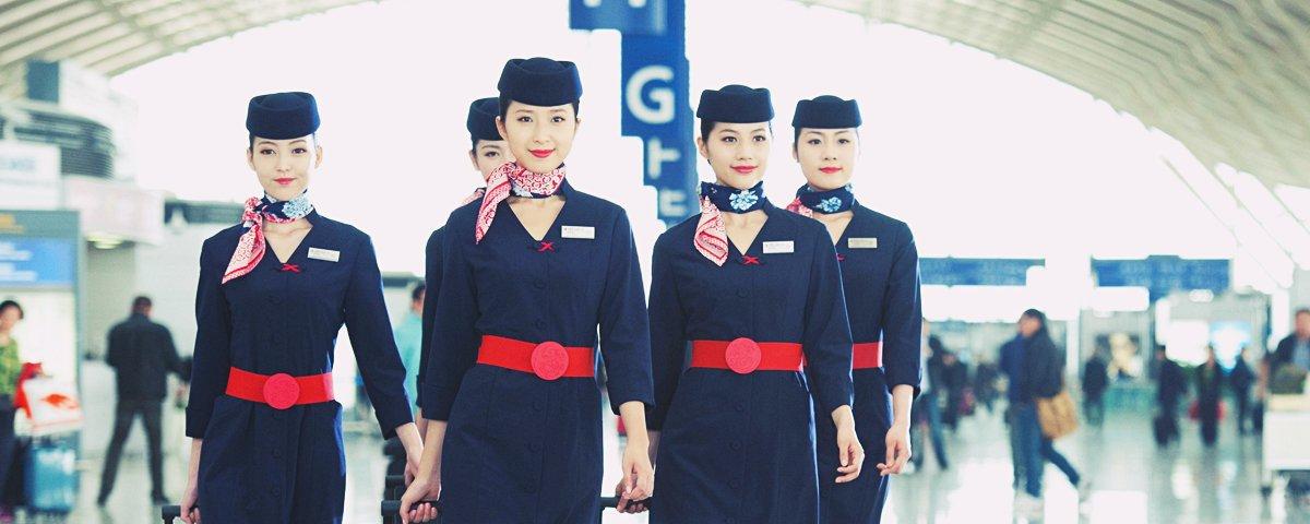 O árduo treinamento para ser comissário de bordo na China