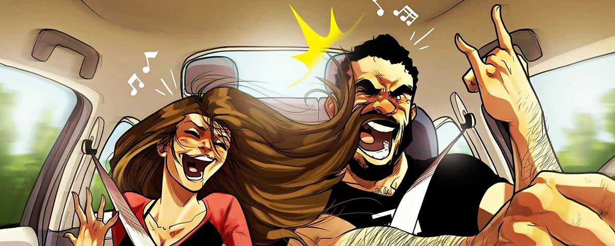 Artista retrata a rotina com a esposa em ilustrações cheias de sinceridade