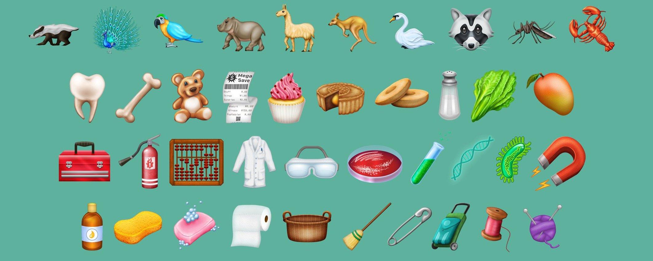 Incríveis 157 novos emojis serão lançados em 2018