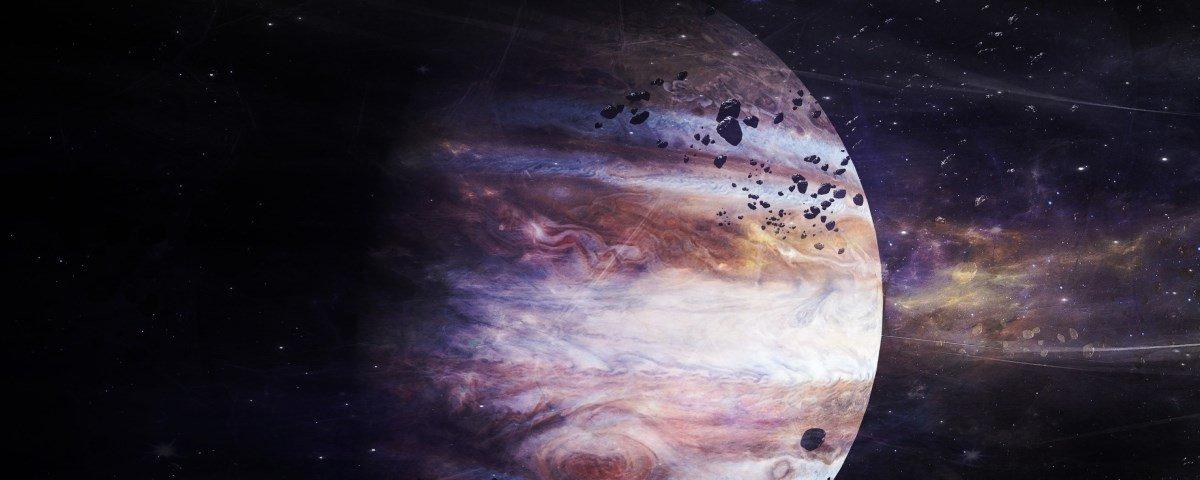 Você sabia que Júpiter tem anéis também?