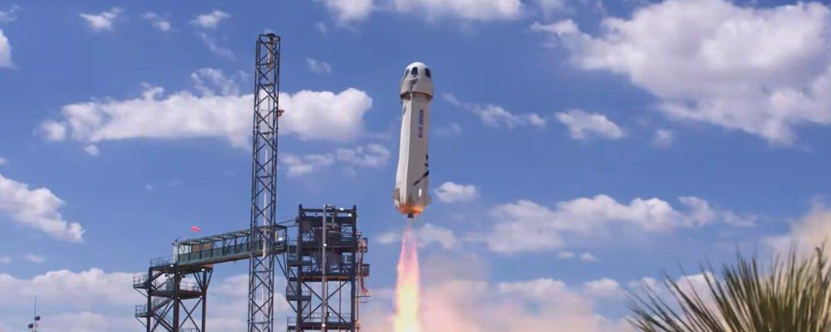 Blue Origin realiza com sucesso seu teste mais alto e completo até agora