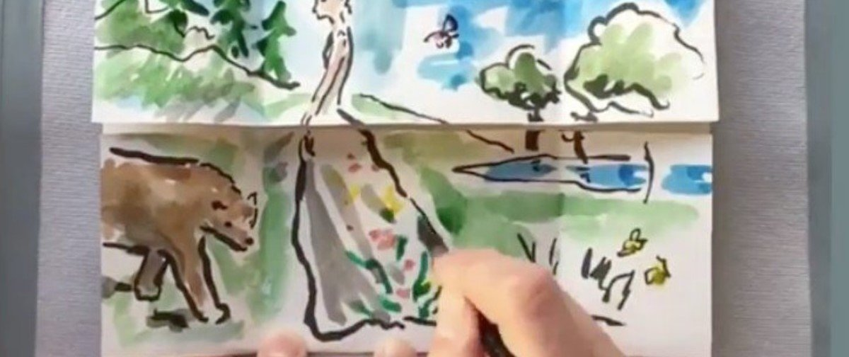 Este artista cria histórias que se desdobram diante dos nossos olhos