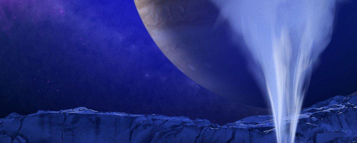 NASA identifica plumas de água em fotos antigas de Europa, lua de Júpiter