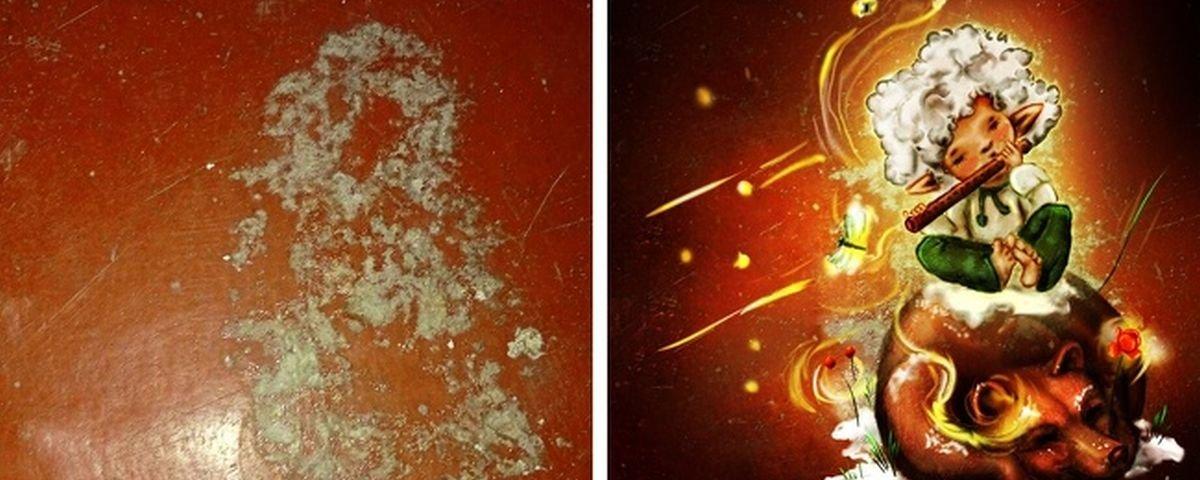 13 manchas e descascados em paredes que viraram pequenas obras de arte