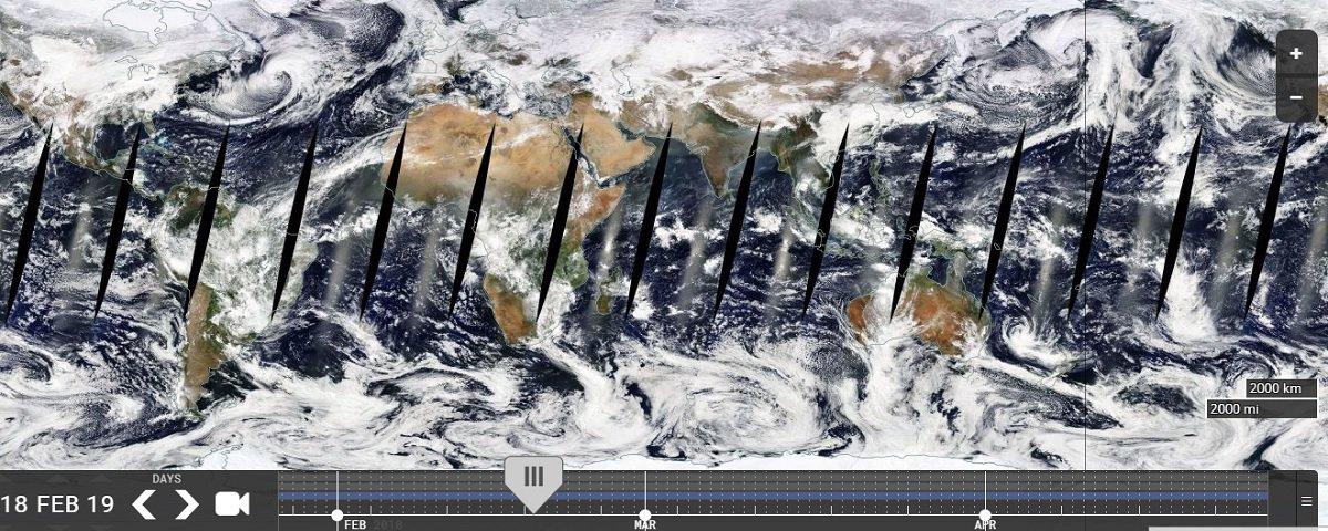 NASA libera imagens contínuas do planeta Terra guardadas por 20 anos