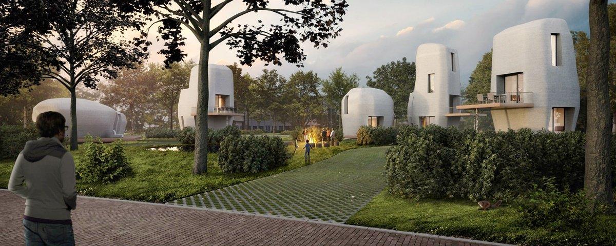 """Holanda começa a construir primeiras casas feitas com """"concreto 3D"""""""