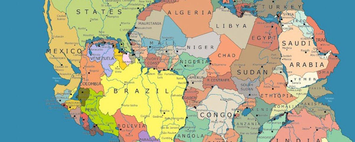 Onde ficaria sua cidade caso o supercontinente Pangeia ainda existisse?
