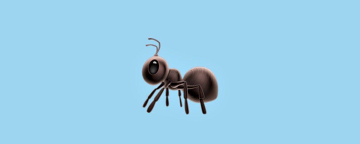 Biólogos estão pistola por causa das representações das formigas nos emojis