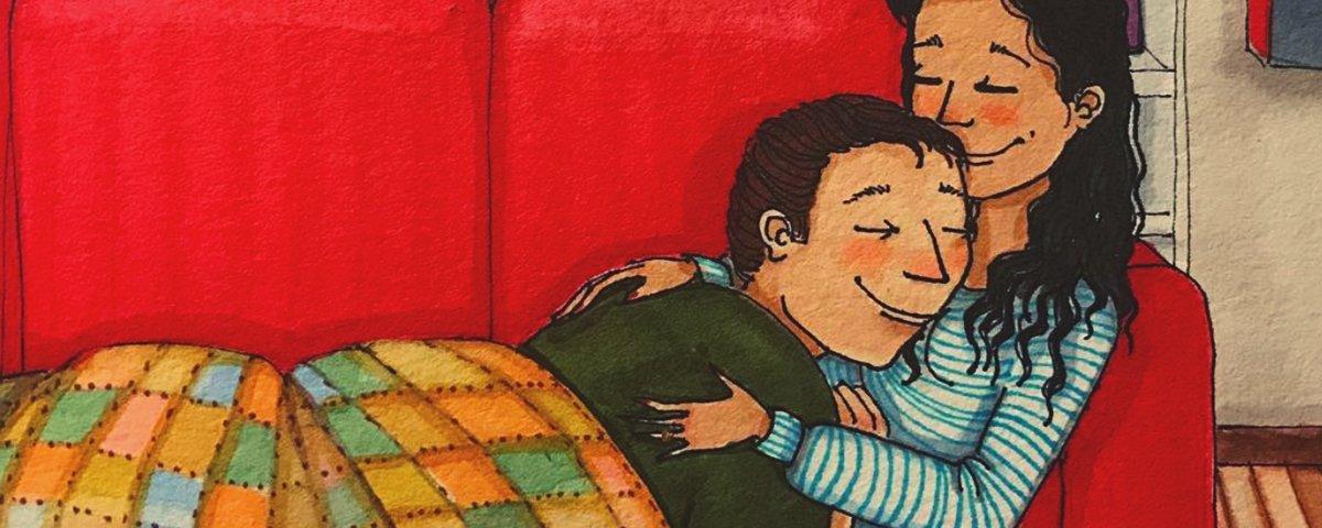 A intimidade de um casal em ilustrações cheias de sinceridade