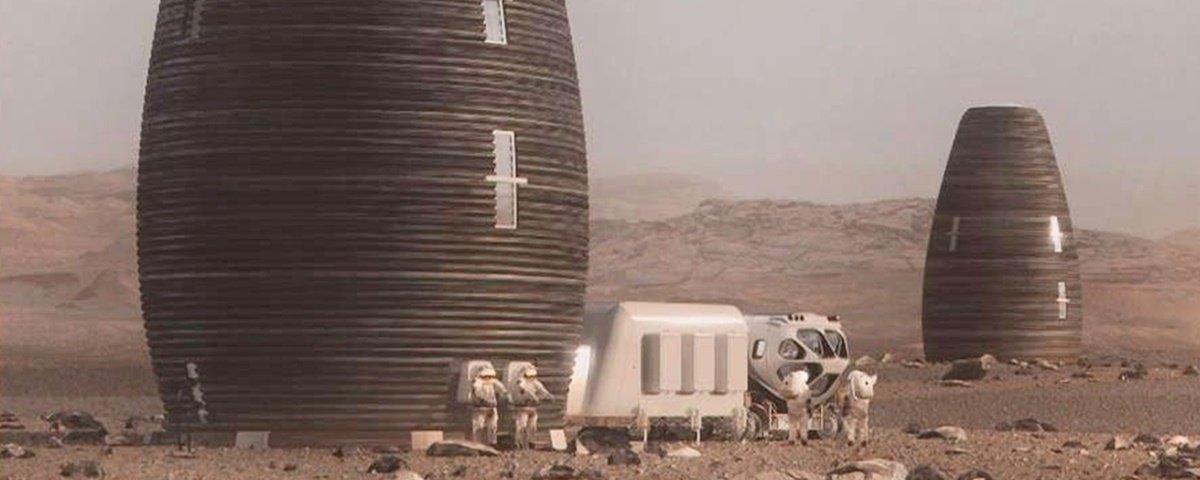"""Veja as """"casas"""" que podem ser construídas com impressoras 3D em Marte"""