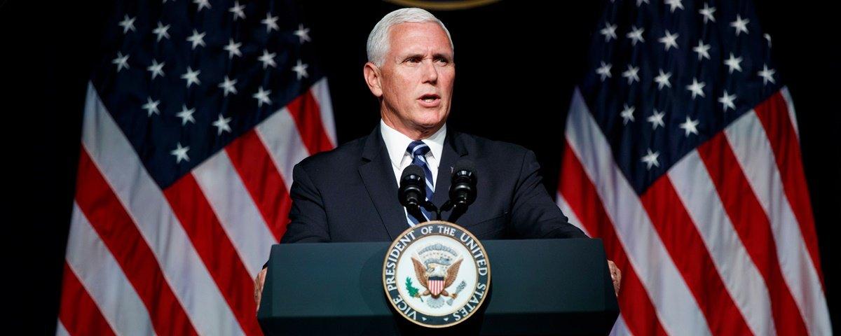 Vice-presidente dos EUA explica Força Espacial e cutuca China e Rússia
