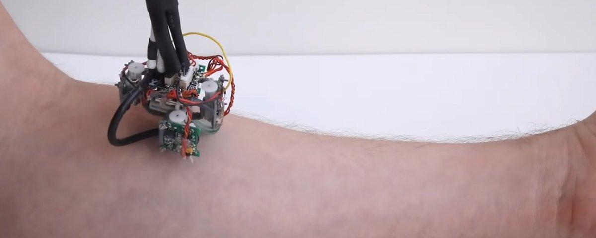 Pesquisadores do MIT criam robô que se locomove sobre a pele do usuário