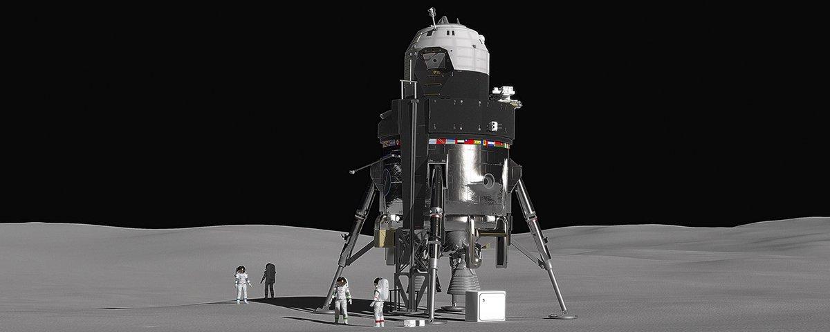 Lockheed Martin lança proposta de lander gigante tripulado para voos à Lua