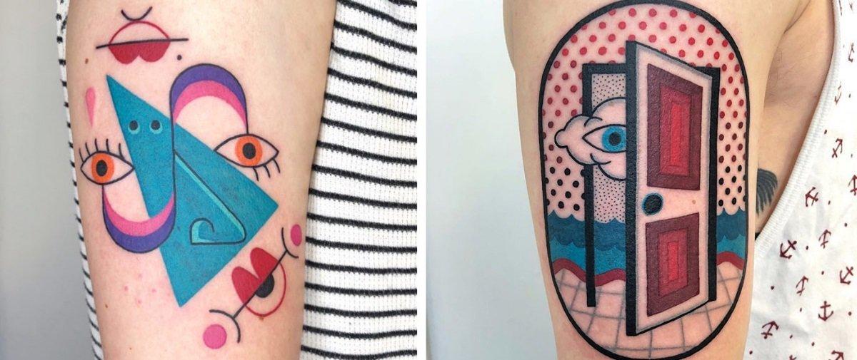 Estas são as tattoos mais coloridas e psicodélicas que você vai ver hoje