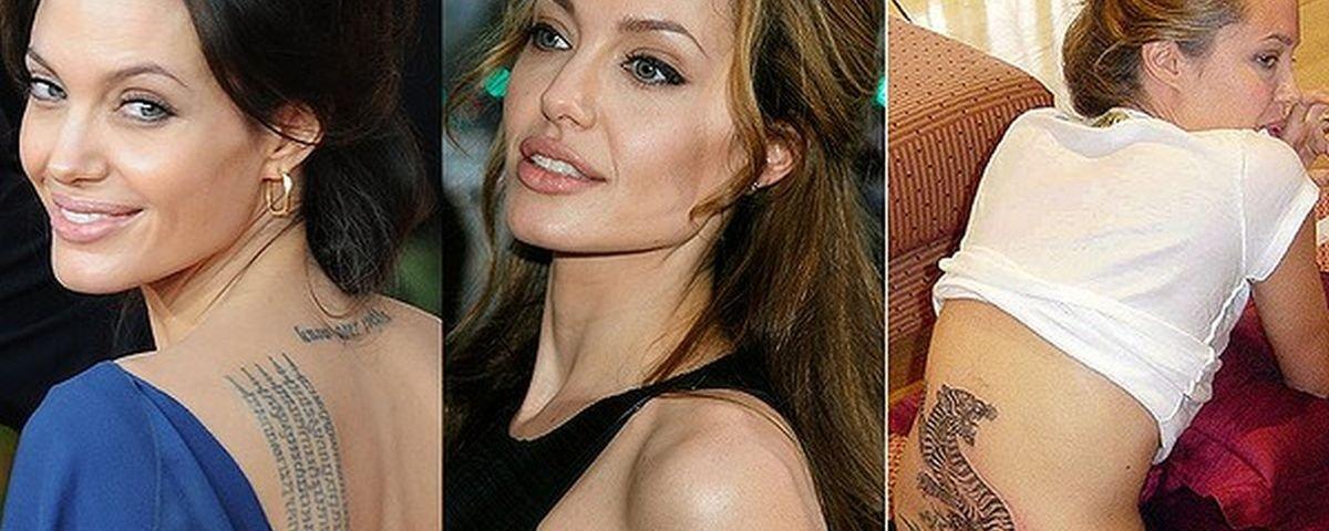 Angelina Jolie: conheça o significado de 17 tatuagens da atriz
