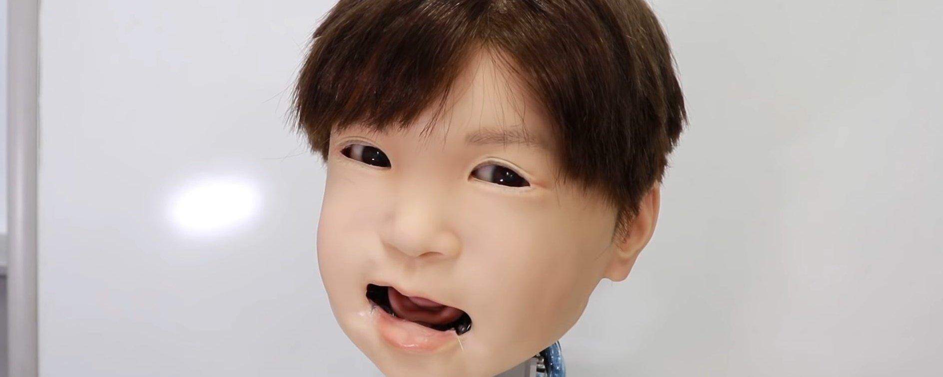 Criança robô sinistra consegue imitar várias expressões humanas