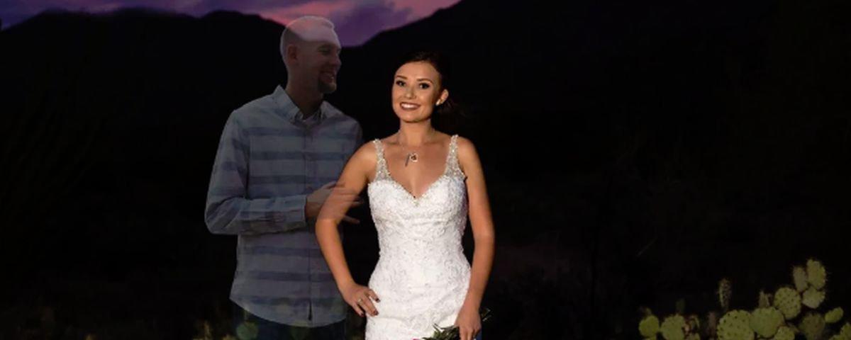 Tem Na Web - Mulher posta ensaio com fantasma do noivo no dia que eles iriam se casar