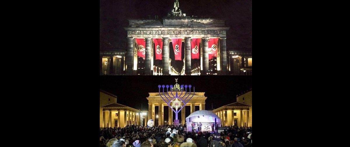 80 anos de História e lutas separam estas fotos do Portão de Brandemburgo