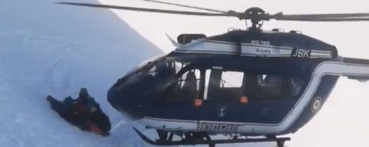 Resgate impressionante nos Alpes Franceses parece cena de Hollywood