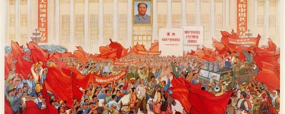 Imagens da época da Revolução Cultural Chinesa exaltam o comunismo