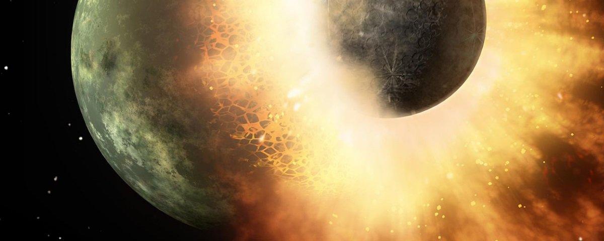 Colisão catastrófica com outro planeta pode ter dado origem à vida na Terra