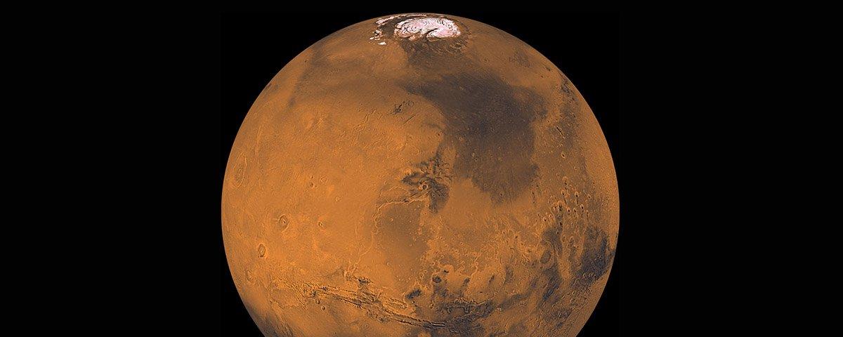 NASA capta imagem de uma nova cratera em Marte