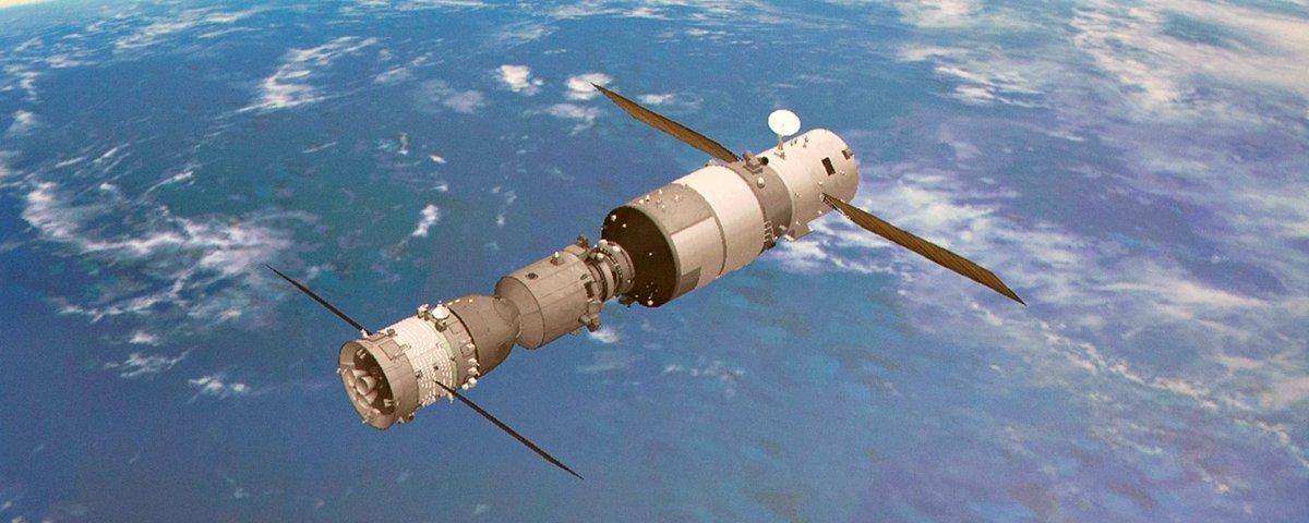 Satélite chinês Tiangong-2 caiu hoje sobre o Oceano Pacífico