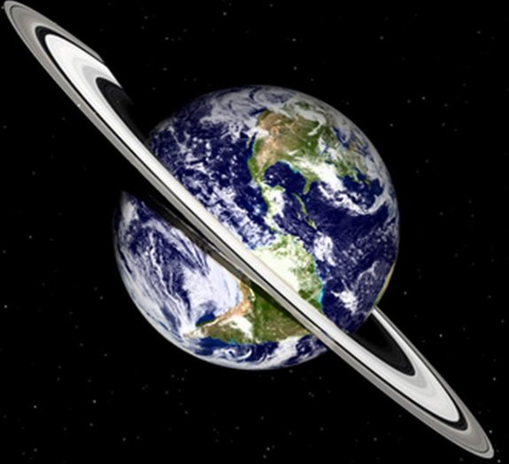 E se a Terra tivesse anéis como os de Saturno?