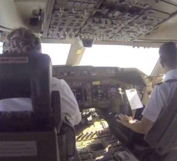Quer saber como é estar dentro da cabine de um avião?