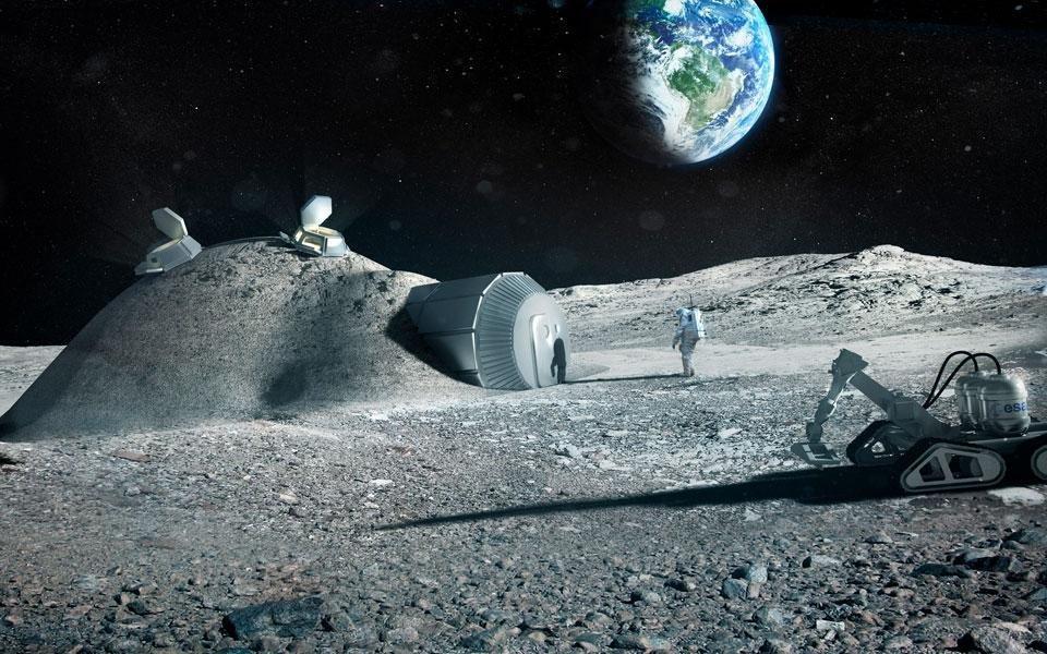 Base lunar perfeita seria impressa em 3D e feita com solo do local