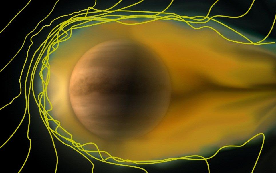 ESA divulga imagem de Vênus se comportando como um cometa