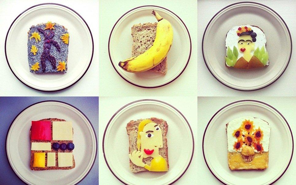 Artista recria famosas obras de arte com comida