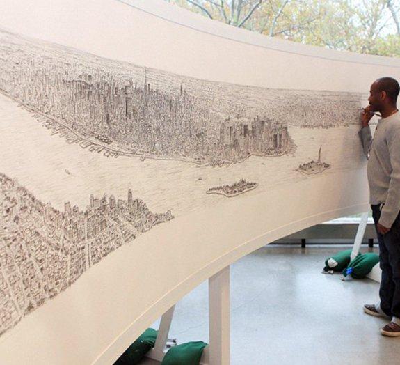 Artista com autismo reproduz a cidade de Nova York depois de breve sobrevoo