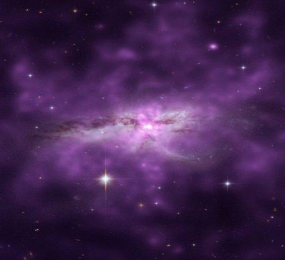 O que ocorre quando duas galáxias colidem?
