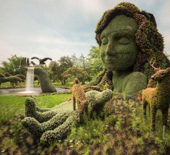 Esculturas incríveis dão vida ao Jardim Botânico de Montreal