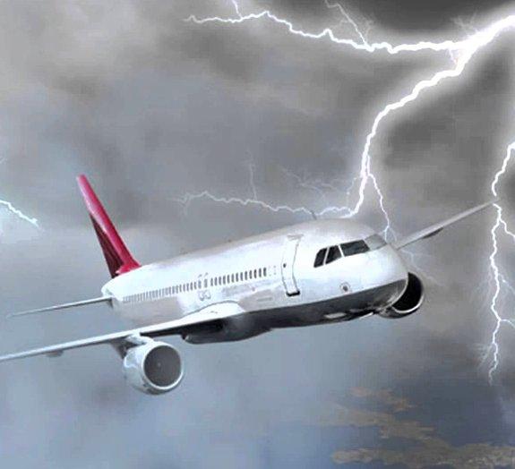 O que acontece quando um raio atinge um avião?