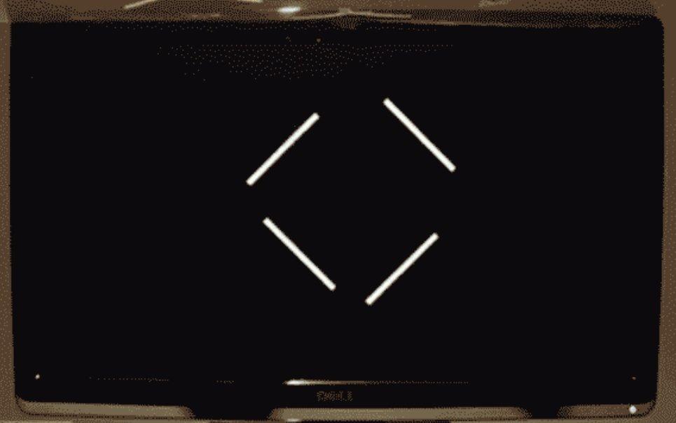 Ilusão de óptica transforma o movimento de linhas paralelas