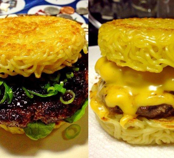 Hambúrguer de miojo vira sensação em Nova York