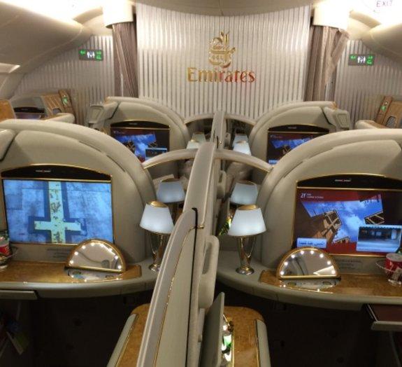 Brasileiro conta como é viajar de Primeira Classe no A380 da Emirates