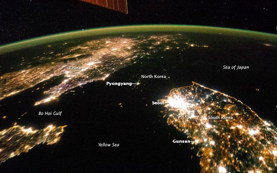 Imagens da NASA revelam o enorme contraste entre as Coreias