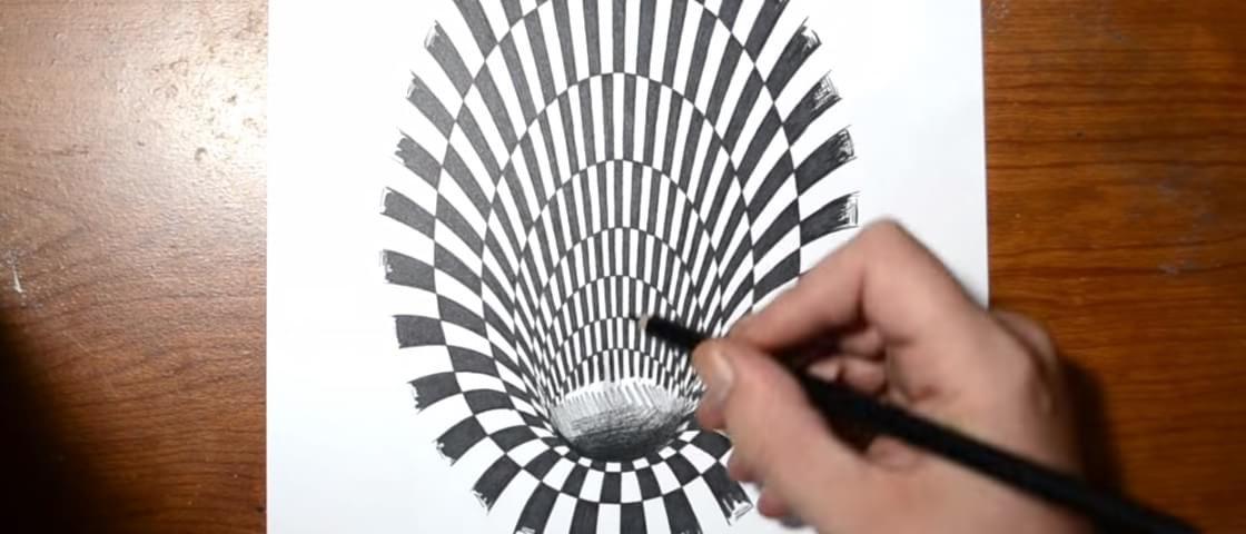 Confira Como Criar Uma Ilusao De Otica Incrivel Com Lapis E Papel