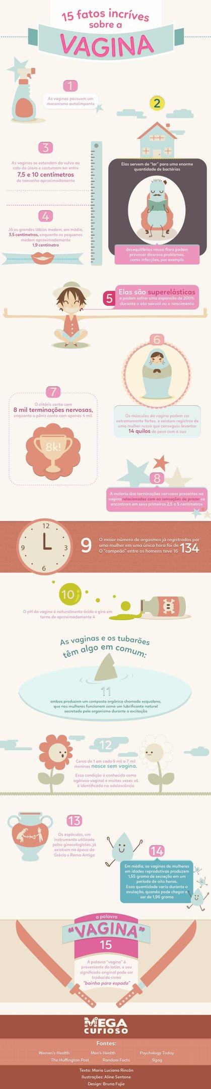 Que tal conferir 15 fatos incríveis sobre a vagina? [infográfico]