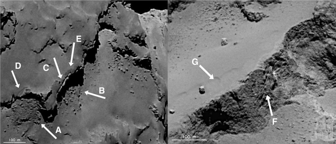 O cometa onde a sonda Rosetta pousou tem características inesperadas