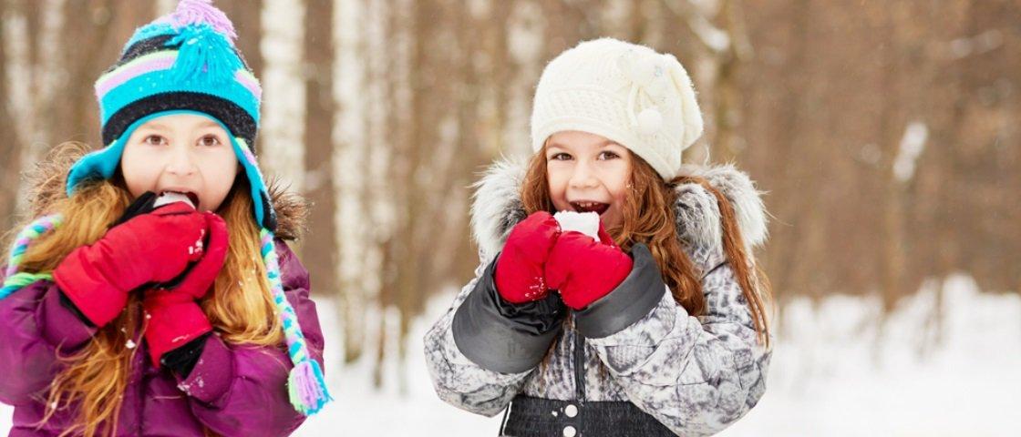 Será que é seguro comer neve?
