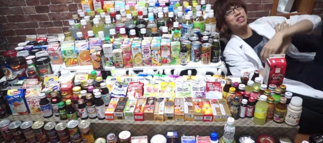 Japonês toma — e vomita — coquetel feito com todo tipo de bebida imaginável