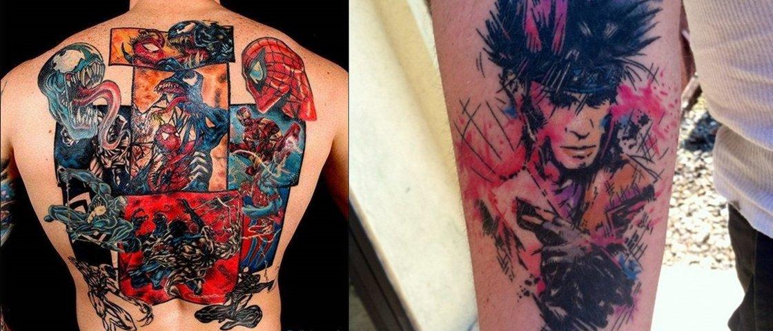 20 Tatuagens Incríveis Inspiradas Em Quadrinhos Mega Curioso