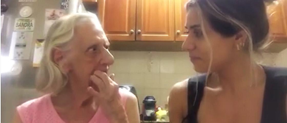 Vídeo de musa fitness cuidando da avó com Alzheimer faz sucesso na internet