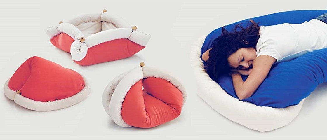 Você nem imagina as incríveis formas que esta almofada dobrável pode tomar