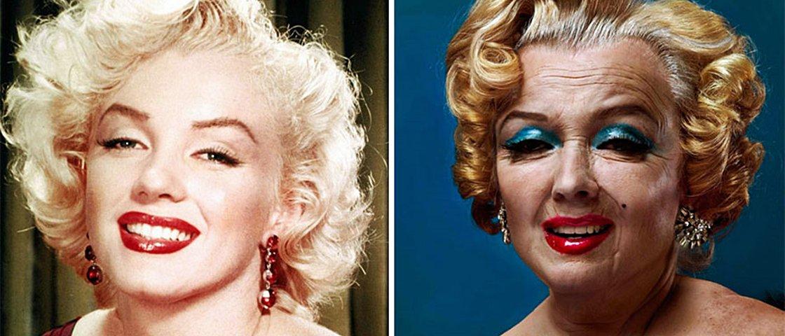 Veja como ficaram 15 celebridades envelhecidas com Photoshop